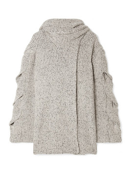 Mélange Ribbed Knit Cardigan by See By Chloé