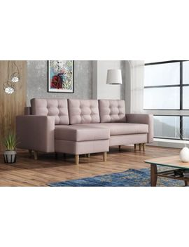Corner Sofa Bed Ana With Storage Container Sleep Function Universal Side New by Ebay Seller
