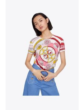 Printed Logo T Shirt by Tory Burch