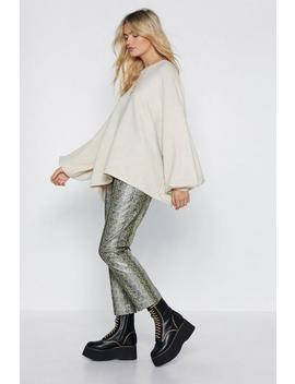Coming Balloon Oversized Sweater by Nasty Gal