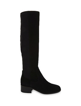 Bella Stretch Suede Knee Boots by Lk Bennett