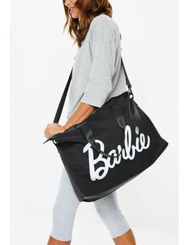 Barbie X Missguided Black Over Night Bag by Missguided