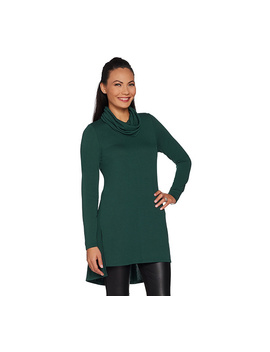 Lisa Rinna Collection Regular Cowl Neck Tunic With Seam Detail by Qvc