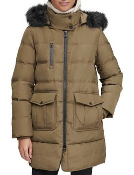 Astoria Faux Fur Trimmed Puffer Jacket by Marc New York