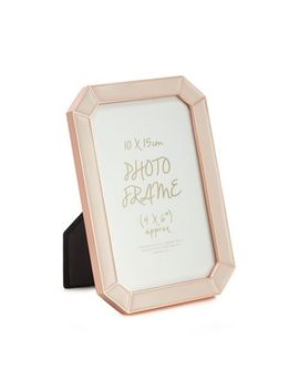 Home Collection   Pink Enamel Rose Gold Trim Photo Frame by Home Collection