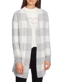 Plaid Open Front Cardigan by 1.State