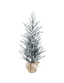 """holiday-time-snow-capped-green-fir-tree-with-burlap-base,-36"""" by holiday-time"""