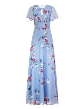 *Chi Chi London Blue Floral Print Maxi Dress by Dorothy Perkins