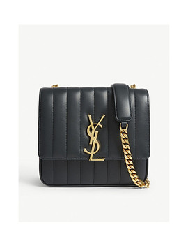 Vicky Leather Quilted Shoulder Bag by Saint Laurent