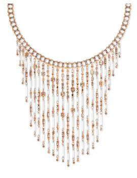 Maxen Rose Gold Statement Necklace In Blush Mix by Kendra Scott