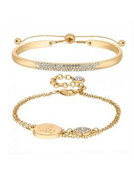 Lipsy   Gold Pave Charm Bracelet Set by Lipsy