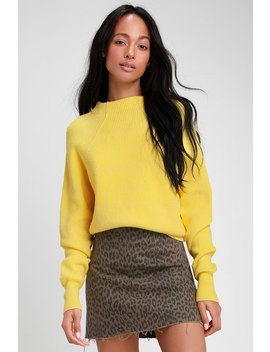 Too Good Yellow Knit Pullover Sweater by Free People