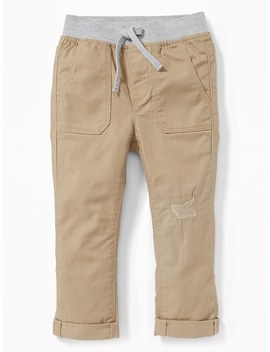 Skinny Rib Waist Twill Pants For Toddler Boys by Old Navy