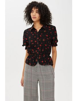 **Verity Shirred Peplum Top By Nobody's Child by Topshop