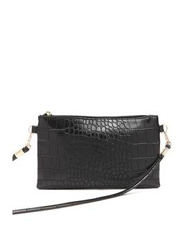 Faux Leather Croc Crossbody by Forever 21