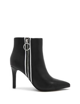 Striped Trim Ankle Boots by Forever 21