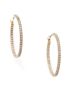 Pavé Hoop Earrings by Ralph Lauren