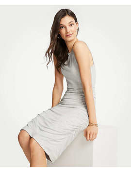 Petite Ruched Knit Sheath Dress by Ann Taylor