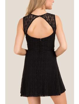 Leeanne Bare Back Lace Dress by Francesca's