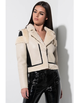 Cozy Up Faux Fur Lined Leather Jacket by Akira