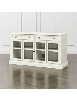 "Cameo Vamelie 62"" Modular Media Console With Glass Doors by Crate&Barrel"