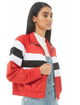 Striped Colorblock Track Jacket by Forever 21