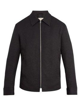 Point Collar Zip Through Jacket by Marni