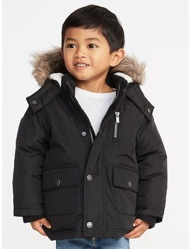 Hooded Faux Fur Trim Snow Jacket For Toddler Boys by Old Navy