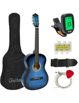 New Beginners Acoustic Guitar With Guitar Case, Strap, Tuner And Pick by Best Choice Products