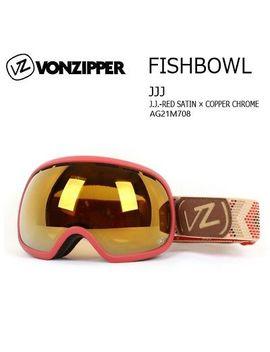 New Von Zipper Fishbowl Goggles J.J. Red Satin/Copper Chrome Nib Msrp $170 by Von Zipper