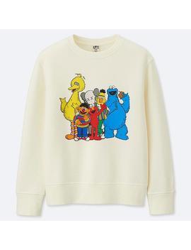 Kids Kaws X Sesame Street Sweatshirt by Uniqlo