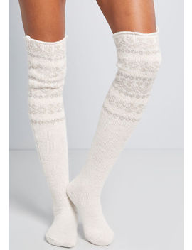 Snuggly Impression Thigh Highs by Modcloth