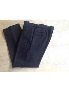 Mens Black Herrigbone Trousers To Match Edward Jacket Wedding Formal Wear &Nbsp;30 R by Ebay Seller