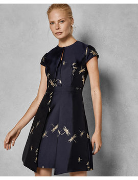 Dragonfly Jacquard Dress by Ted Baker