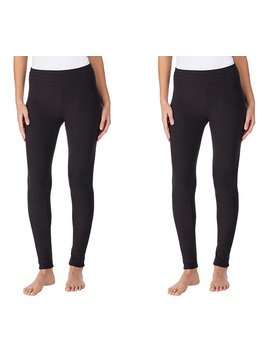 Cuddl Duds 2 Pack Fleecewear With Stretch Leggings by Qvc