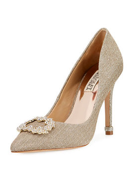 Nichole Ii Embellished Metallic Pump by Badgley Mischka