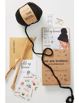 Fold Up Beanie Knitting Kit by We Are Knitters X Anthropologie
