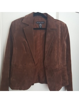 Ny&C Suede Blazer, Size 8 by New York & Company