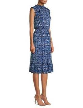 Paisley Blouson Flare Dress by Michael Michael Kors
