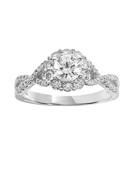 Simply Vera Vera Wang Diamond Engagement Ring In 14k White Gold (1 Ct. T.W.) by Kohl's