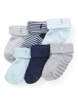 Cuffed Sock 6 Pack by Ralph Lauren