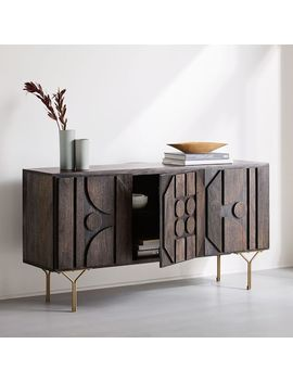"Pictograph Buffet (58"")   Carbon by West Elm"