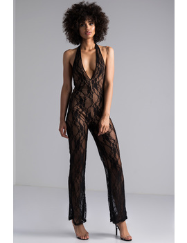 Jump In The Coupe Lace Jumpsuit by Akira