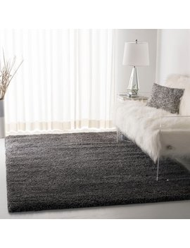 Safavieh Cozy Plush Dark Grey/ Charcoal Shag Rug by Safavieh