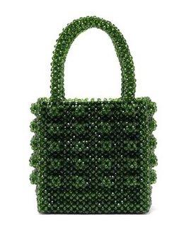 Antonia Emerald Crystal Embellished Bag by Shrimps