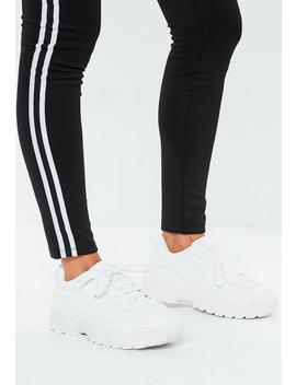 White Chunky Lace Up Sneakers by Missguided