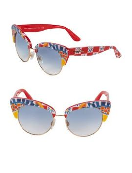 52 Mm Cat Eye Sunglasses by Dolce & Gabbana