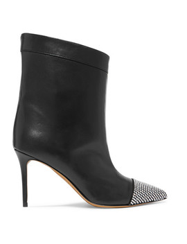Cha Cha Crystal Embellished Leather Ankle Boots by Alexandre Vauthier