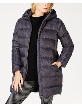 Recycled Polyester Hooded Cocoon Coat, Regular & Petite by Eileen Fisher