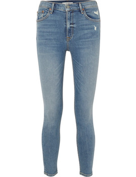 Kendall Distressed High Rise Skinny Jeans by Grlfrnd
